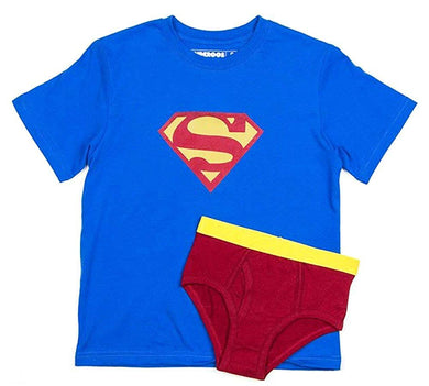 Underoos Boys Superman Underwear Briefs & T-Shirt Top 2-pc Set