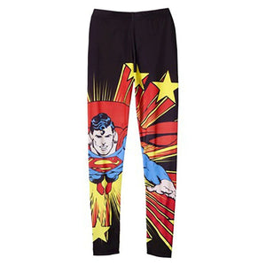 Classic DC Comics Superman Fly Women's Juniors Leggings, Black