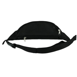 Disney Classic Mickey Mouse Zippered Waist Hip Fanny Pack, Black