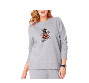 "Just My Size Women's Plus Size ""The Witch Is Back"" Halloween Fleece Sweatshirts"