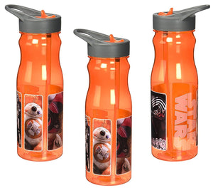 [3-Pack] Star Wars Ep7 25oz Tritan Water Bottle with Flip-Up Spout and Straw, BPA-Free