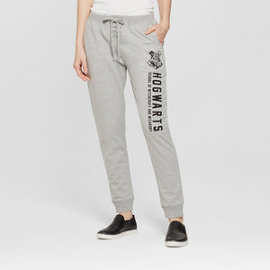Harry Potter Hogwarts Jogger Athleisure Pants (Womens Juniors') Heather Gray...