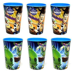 6-Pack Disney-Pixar Toy Story Metallix Graphics 10oz BPA-Free Plastic Reusable Kids Cups