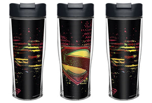 3-Pack DC Comics Superman 15-ounce Insulated Travel Tumbler Mug, BPA-Free
