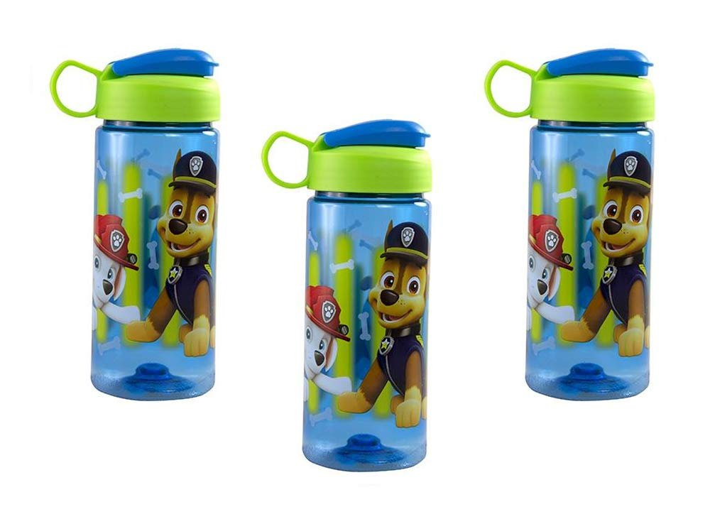 [3-Pack] Paw Patrol 16.5oz Kids Sullivan Sports Water Bottle, BPA-Free