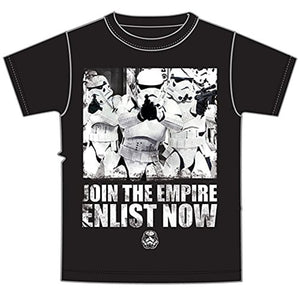 Star Wars Storm Troopers 'Join The Empire' Mens T Shirt Top - Black White