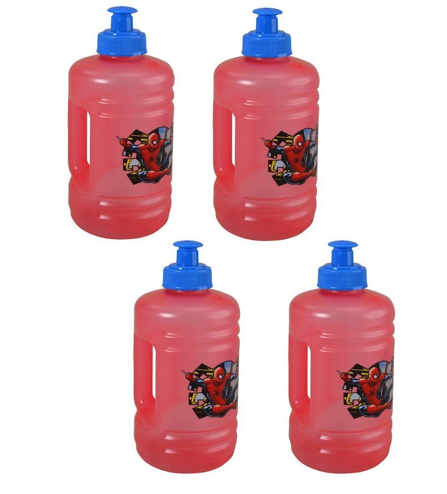 4-Pack Spider-Man Homecoming Kids 16oz Pull-Top Squirt Sports Water Jug Bottles