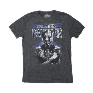 "Marvel's Black Panther ""Suit Up"" Men's Graphic T-Shirt, Charcoal Gray"