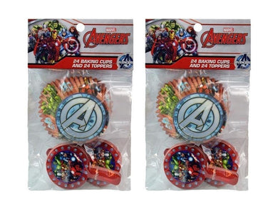 2-Pack Marvel Avengers 24 Cupcake Liners & 24 Toppers (48 Total)