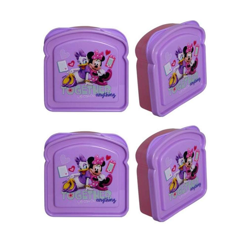 [4-Pack] Disney Minnie Mouse Bowtique Sandwich Container Boxes, BPA-Free