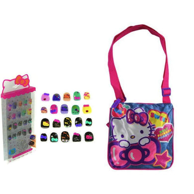 Hello Kitty Little Girls Play Purse & Press-On 3D 20pc Nail Set