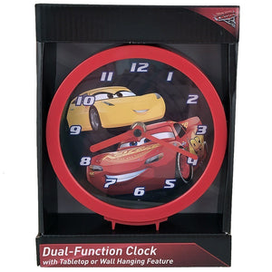 "Disney-Pixar Cars Battery-Operated 6"" Wall or Desk Analog Clock"