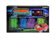 SporTech 73-piece Fluorescent Glow Race Track Set with B/O Light-up Car