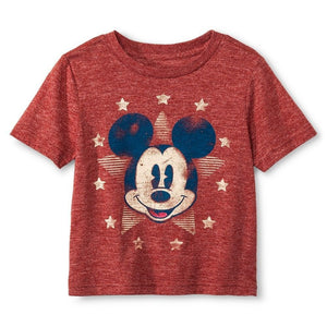 Disney Mickey Mouse Star Vintage-Look Toddler Boy's T-Shirt, Red Copper