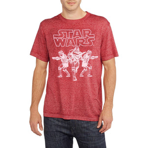 Star Wars Stormtroopers Vintage-Style Burnout Fabric Men's T-Shirt, Red Heather