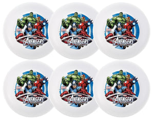 "[6-Pack] Marvel Avengers Assemble 5.5"" Melamine Bowl Set, Iron Man, Hulk, Captain America"