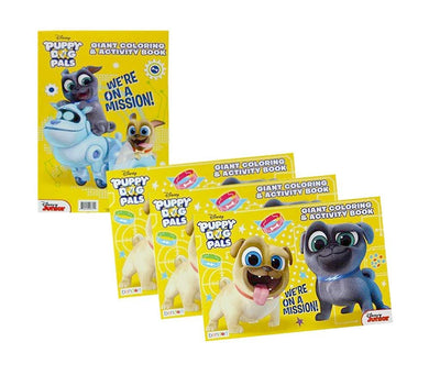 [4-Pack] Disney Puppy Dog Pals Giant 11x16 Coloring & Activity Book Set