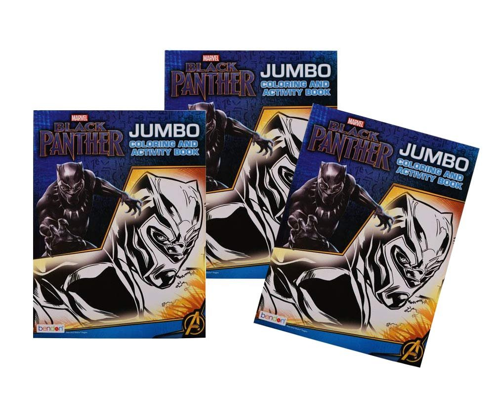 [3-Pack] Marvel's Black Panther Jumbo 96-Page Coloring and Activity Books
