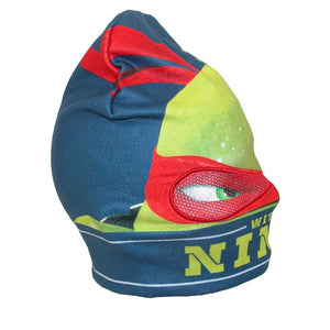 "Teenage Mutant Ninja Turtles ""Don't Mess with a Ninja"" Knit Beanie Hat with Eye Panel"