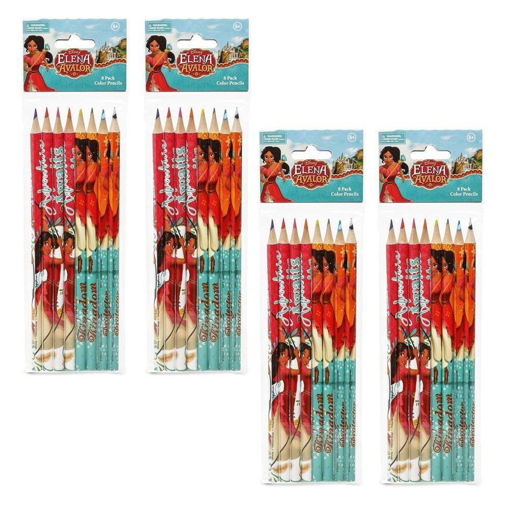 [4-Pack Set] Disney Elena of Avalor 8-count Colored Pencils