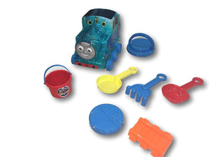 Thomas The Train Sand Beach Play Set, Shovels, Pail, Storage, Rake, Sifter and More!
