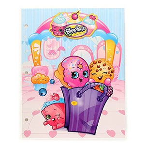 [4-Pack] Shopkins 3-Ring Binder Portfolio Pocket Folders