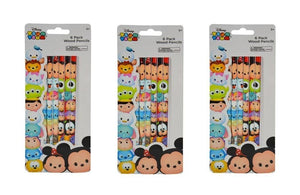 3-Pack Set 6pk Disney Tsum Tsum Wood #2 Pencils (18 Total)