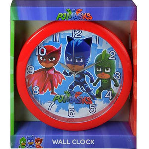"PJ Masks 10"" Round Battery-Operated Analog Wall Clock"