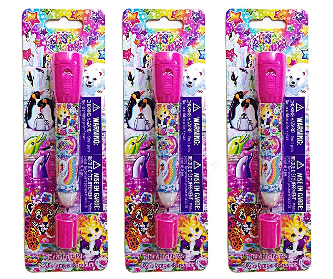 [3-Pack Set] Kids 2-in-1 Flashlight Pens - Great for Parties/Gifts
