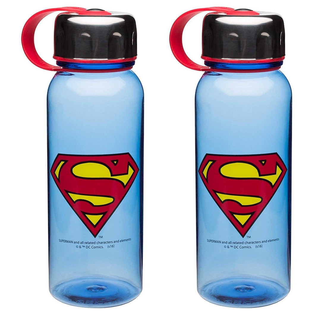 2-Pack DC Comics Superman 24oz Summit Water Bottle with Stainless Steel Lid, BPA-free