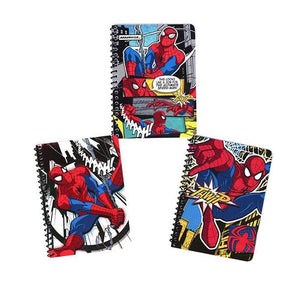 "[3-Pack] Marvel Ultimate Spider-Man Comics 5x7"" Spiral Notebooks with 48 Wide-Ruled Sheets"