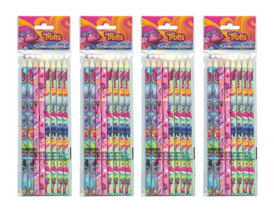 4-Pack Set Dreamworks Trolls 8-ct Colored Pencils (32 total)