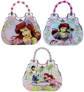 Set of 3 Disney Princess Ariel The Little Mermaid Metal Tin Purses with Beaded Handles