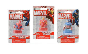"[3-Pack] Marvel Comics 3D Figural 2"" Eraser - Iron Man, Spider-Man, Captain America"