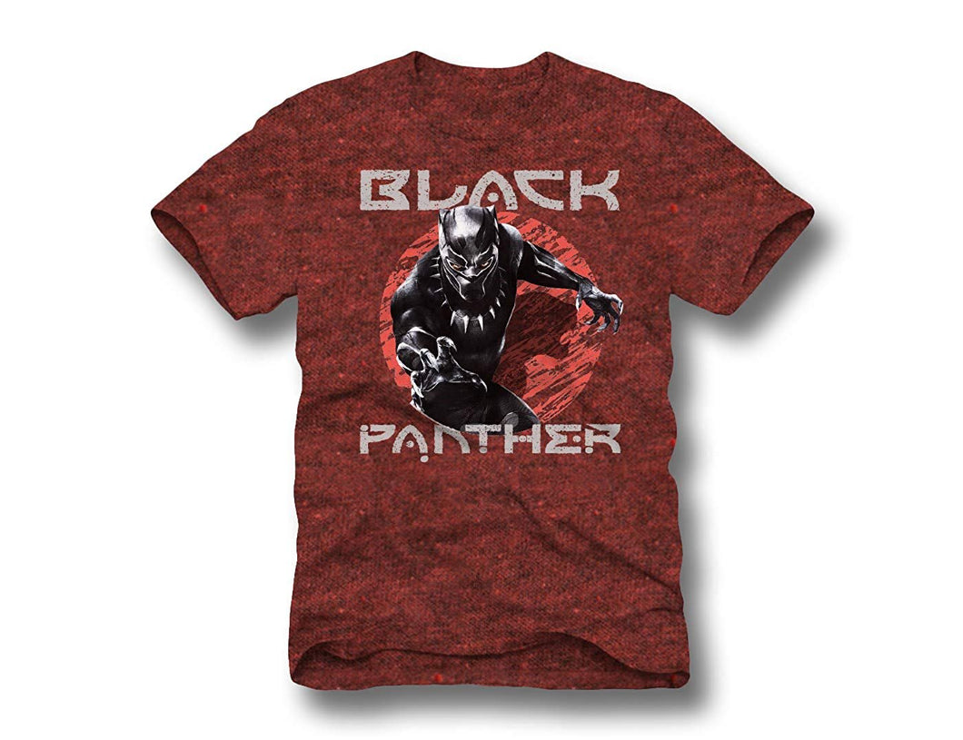 Marvel's Black Panther Graphic Short Sleeve Men's T-Shirt, Maroon