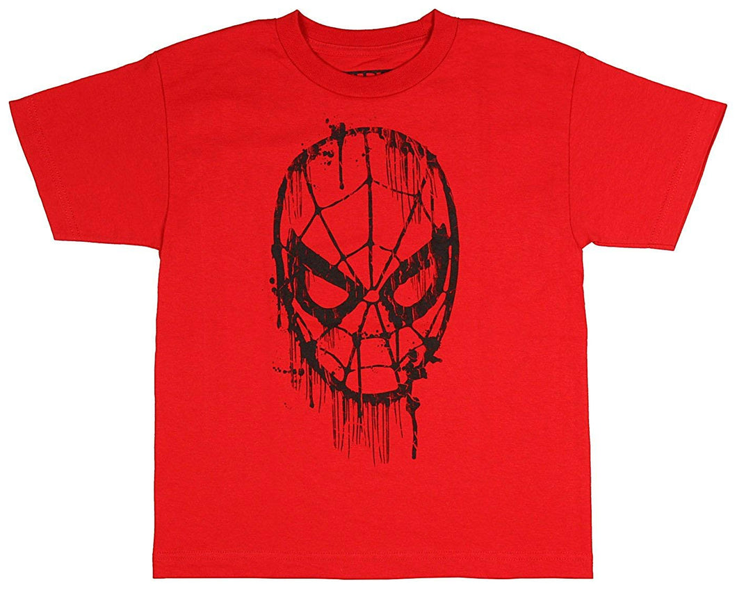 Marvel The Amazing Spider-Man Web Head Drips Youth/Boys Graphic T-Shirt, Red