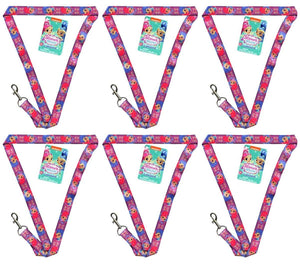 [6-Pack] Nickelodeon Shimmer and Shine 17-inch Lanyard with Clasp
