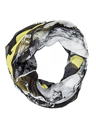 DC Comics Batman Logo Black/White Print Sheer Infinity Scarf