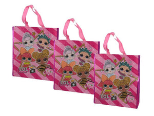 "3-Pack L.O.L. LOL Surprise! Large 16"" Reusable Shopping Tote or Gift Bag"