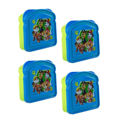 [4-Pack] Paw Patrol Sandwich Lunch Container Boxes, BPA-Free