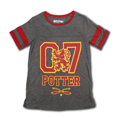 Harry Potter 07 Gryffindor Quidditch Junior's Sports Jersey Tee T-Shirt