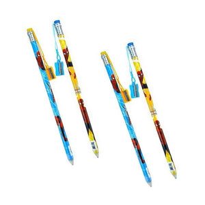 [4-Pack Set] Marvel's Ultimate Spider-Man 15-inch Jumbo Pencil with Pencil Sharpener