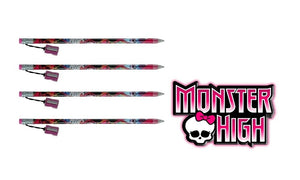"[4-Pack Set] Monster High 15"" Jumbo Pencil with Pencil Sharpener"