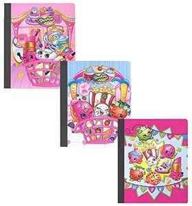 [3-Pack] Shopkins Composition 50 Sheet Wide Ruled Note Books