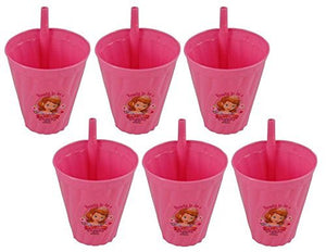 [6-Pack] Disney Sofia the First Reusable 13oz Sipper Tumbler Cups, BPA-Free