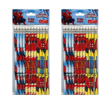 2-Pack Marvel Ultimate Spider-Man 12ct #2 Wood Pencils (24 Total)