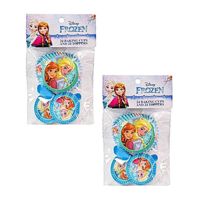 2-Pack Disney's Frozen Elsa & Anna 24 Cupcake Liners & 24 Toppers (48 Total)