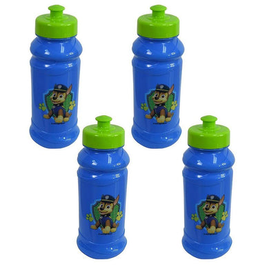 [4-Pack] Paw Patrol Kids 16oz Pull-Top Water Bottles, Blue/Green, BPA-Free