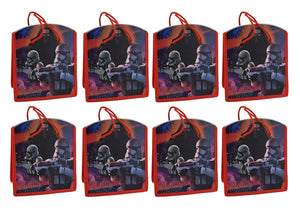 [8-Pack] Star Wars Reusable 8-inch Party Favor Tote Gift/Treat Bags