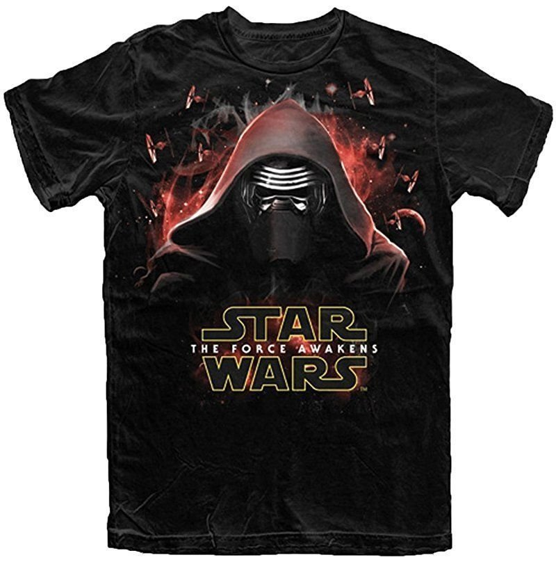 Star Wars The Force Awakens Kylo Ren Attack Men's/Adult T-Shirt, Black